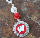 Wisconsin Badgers Bling Necklace