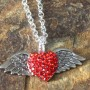 red crystal wing love chain