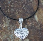 Paw Prints On The Heart Necklace
