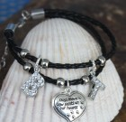 Paw Prints On The Heart Bracelet