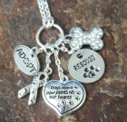 Paw Prints On The Heart Charm Necklace