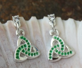 Trinity Celtic Knot Crystal Earrings