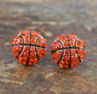 Basketball Bling Post Earrings