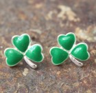 Shamrock Post Earrings