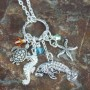 crystal manatee charm necklace