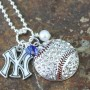 Yankees Bling Necklace