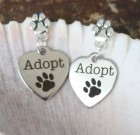 Adopt Heart & Paw Earrings