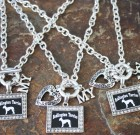 I Love My Bedlington Terrier Necklace