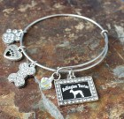 Bedlington Terrier Adjustable Bangle Bracelet