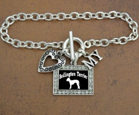 I Love My Bedlington Terrier Bracelet