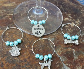 Design Your Own Dog Wine Charms