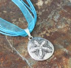 Sand Dollar Starfish Sparkle Ribbon