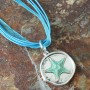 starfish silver blue ribbon