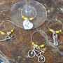 tri wine charms