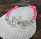 Crystal Bicycle Bracelet