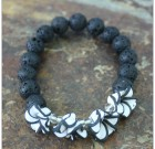 Black & White Flowers Bracelet