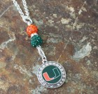 University of Miami Bling Necklace