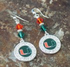 University of Miami Earrings