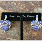 Will Run For Blue Bling Earrings