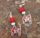 Tampa Bay Buccaneers Flag Sparkle Earrings