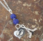 Tampa Bay Lightning Heart And Bling Necklace