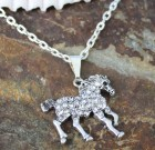 Crystal Horse Pendant