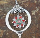 Poinsettia Sparkle Ornament