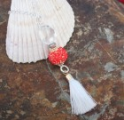 Red And White Tassel Sparkle