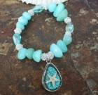 Sparkle Starfish in Seafoam Bracelet