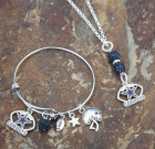 Dallas Cowboys Adjustable Bangle & Necklace Set