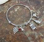 Wine Lovers Adjustable Bangle
