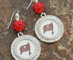 Tampa Bay Buccaneers Sparkle Earrings