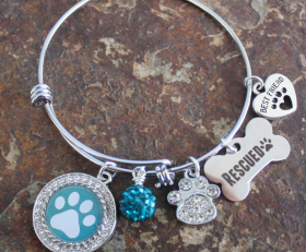Paw Love Adjustable Bangle