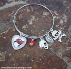 Tampa Buccaneers Adjustable Bangle