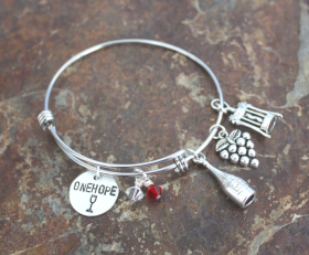 ONEHOPE Wine Adjustable Bangle Bracelet