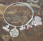She Believed She Could Runner Adjustable Bangle