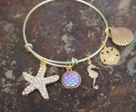 Starfish Wishes Adjustable Bangle