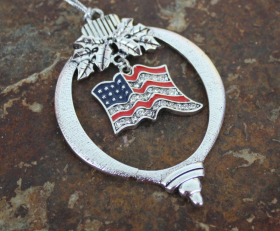 Red, White & Bling Ornament