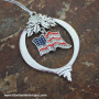 Red White & Bling Ornament