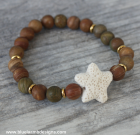 Jasper and Starfish Bracelet