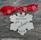 Custom Stamped Snowflake Ornament