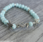 Starfish and Seahorse Sparkle Bracelet