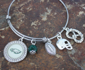 Philadelphia Eagles Adjustable Bangle