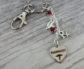 Pharmicist Love Key Chain
