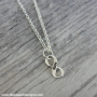 run infinity plain necklace