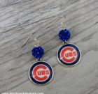 Chicago Cubs Bling Earrings