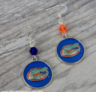 Florida Gators Blue Orange Earrings