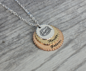 Florida Gators Triple Necklace
