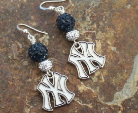 Yankees Bling Earrings