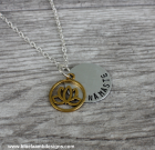 Lotus Flower Namaste Necklace